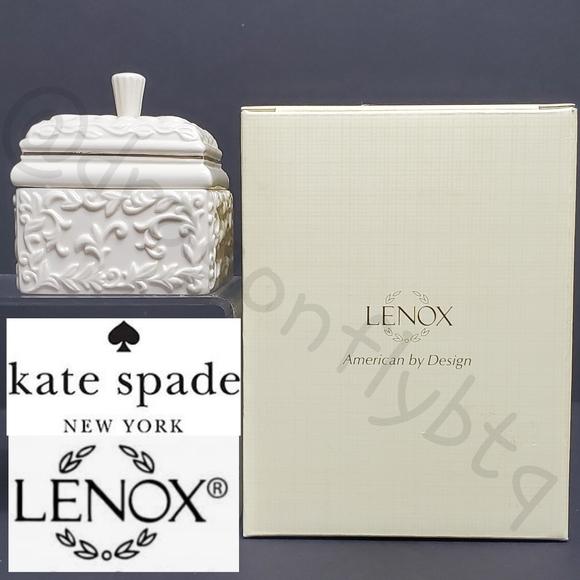 NIB kate spade/Lenox Carved Ivy Covered Box
